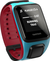 TomTom Runner 2 Music (bracelet large) bleu & rouge