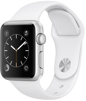 Apple Watch Series 1 38 mm zilver aluminium met sportarmband wit [wifi]