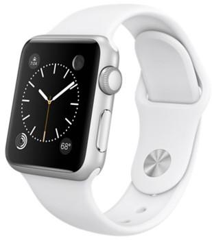 Apple Watch Sport 38 mm zilver met sportbandje wit [wifi]