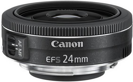 Canon EF-S 24 mm F2.8 STM 52 mm Obiettivo  (compatible con Canon EF-S) nero