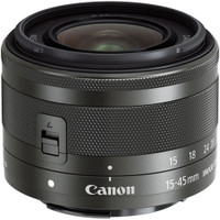 Canon EF-M 15-45 mm F3.5-6.3 IS STM 49 mm Objetivo (Montura Canon EF-M) negro
