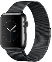 Apple Watch Series 2 42mm Caja de acero inoxidable negro espacial con pulsera Milanese Loop negro espacial [Wifi]