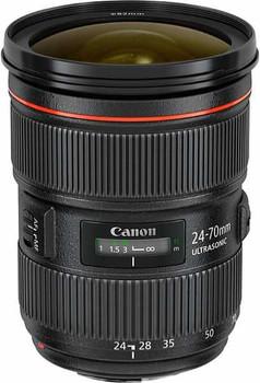 Canon EF 24-70 mm F2.8 L USM II 82 mm Objectif (adapté à Canon EF) noir