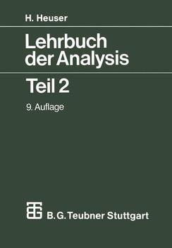 Lehrbuch der Analysis II - Harro Heuser