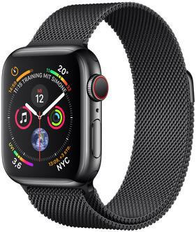 Apple Watch Series 4 40 mm edelstaal space zwart met milanese armband [wifi + cellular] space zwart