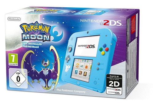 Nintendo 2DS blauw [Pokémon Moon Edition]