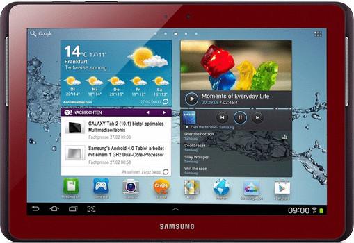 "Samsung Galaxy Tab 2 10.1 10,1"" 16GB [wifi + 3G] donkerrood"