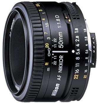 Nikon AF NIKKOR 50 mm F1.8D 52 mm Obiettivo (Compatible con Nikon F) nero