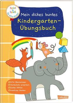 Spiel+Spaß für KiTa-Kinder: Mein dickes buntes Kindergarten-Übungsbuch - Anna Himmel  [Taschenbuch]