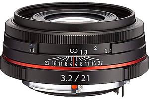 Pentax HD DA 21 mm F3.2 AL 49 mm Objectif (adapté à Pentax K) noir [Édition limitée]