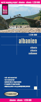 Reise Know-How Landkarte Albanien (1:220.000): world mapping project - Reise Know-How Verlag Peter Rump