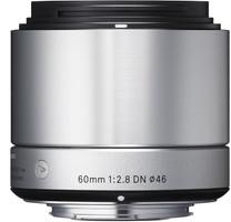 Sigma A 60 mm F2.8 DN 46 mm Objectif (adapté à Micro Four Thirds) argent