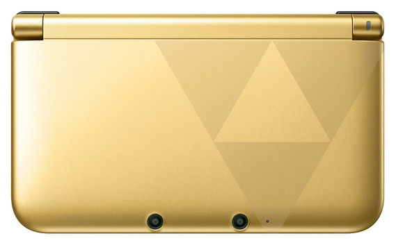 nintendo 3ds xl gold schwarz zelda design limited. Black Bedroom Furniture Sets. Home Design Ideas