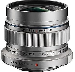 Olympus 12 mm F2.0 ED 46 mm Objetivo (Montura Micro Four Thirds) plata