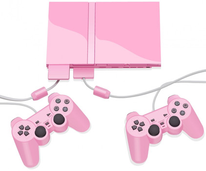 Sony Playstation 2 Starter Pack roze [incl. 2 Controller, 8MB geheugenkaart]