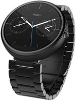Motorola Moto 360 46mm negro con correa de acero inoxidable metal oscuro [Wifi]