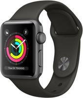 Apple Watch Series 3 38mm Caja de aluminio en gris espacial con correa deportiva gris [Wifi]