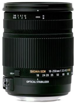 Sigma 18-250 mm F3.5-6.3 DC HSM OS 72 mm Objectif (adapté à Pentax K) noir