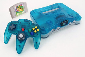 Nintendo 64 azul