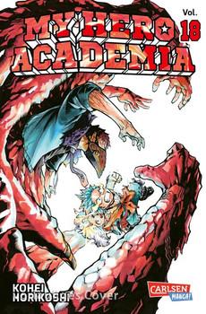 My Hero Academia 18. Die erste Auflage immer mit Glow-in-the-Dark-Effekt auf dem Cover! Yeah! - Kohei Horikoshi  [Taschenbuch]