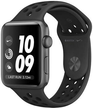 Apple Watch Nike+ Serie 2 38 mm alloggiamento in alluminio space grigio con Bracciale sportivo Nike antracite nero [Wi-Fi]