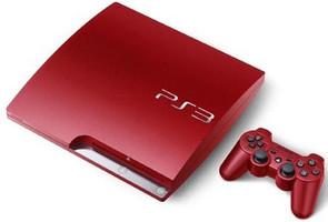 Sony PlayStation 3 slim 320 Go Scarlet Rouge (rouge écarlate)[K Modell, incl. manette sans fil]