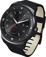LG G Watch R 33 mm zwart met leren bandje zwart