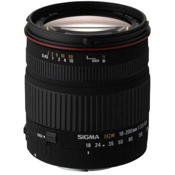 Sigma 18-200 mm F3.5-6.3 DC 62 mm Obiettivo (compatible con Sony A-mount) nero