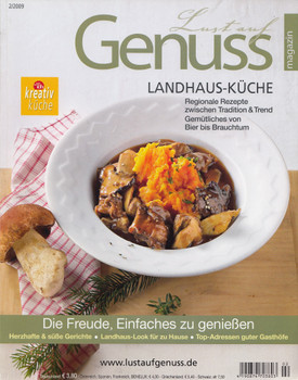 Lust auf Genuss 2/2009: Landhaus-Küche - Regionale Rezepte zwischen Tradition & Trend - Gemütliches von Bier bis Brauchtum [Broschiert]