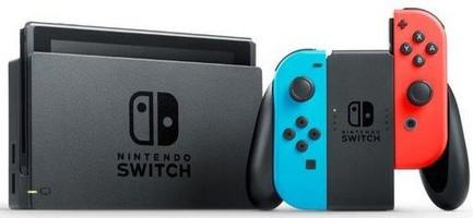 Nintendo Switch 32 Go [incl. une manette rouge et bleu] noir