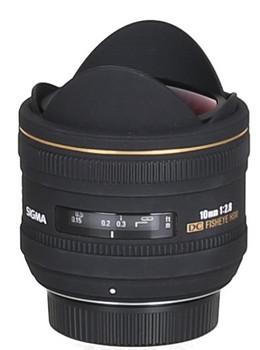 Sigma 10 mm F2.8 DC EX HSM Fisheye (geschikt voor Nikon F) zwart