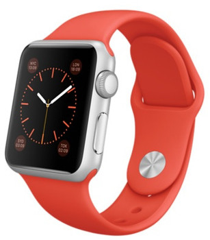 Apple Watch Sport 38mm plata con correa deportiva naranja [Wifi]