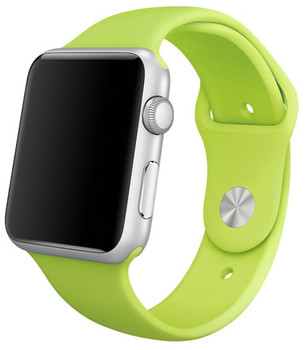 Apple Watch Sport 42mm plata con correa deportiva verde [Wifi]