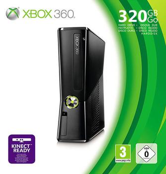 Microsoft Xbox 360 Slim 320GB [mando inalámbrico incluído] negro