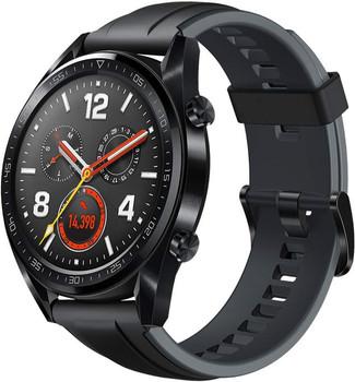 Huawei Watch GT 46,5 mm nero am con cinturino di silicone nero