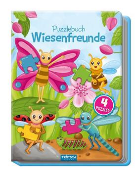 Puzzlebuch Wiesenfreunde, Kinderbuch, Tiere, Tierbuch. Insekten, Wiesentiere, Puzzlebuch, Spielbuch für Kinder [Gebundene Ausgabe]