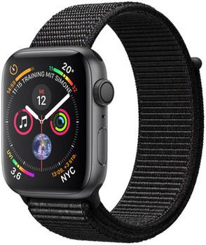 Apple Watch Series 4 44mm caja de aluminio en gris espacial y correa Loop deportiva negra [Wifi]