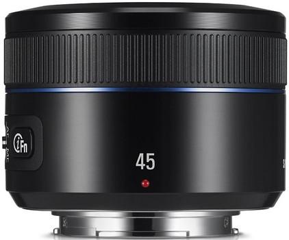 Samsung NX 45 mm F1.8 43 mm Obiettivo (compatible con Samsung NX) nero