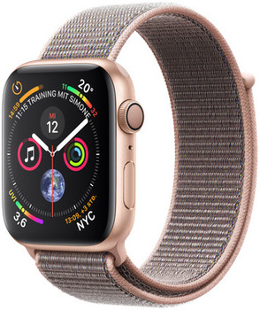 Apple Watch Series 4 44mm caja de aluminio en oro y correa Loop deportiva rosa arena [Wifi]