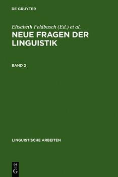 Neue Fragen der Linguistik. Akten des 25. Linguistischen Kolloquiums, Paderborn 1990. Bd. 2: Innovation und Anwendung [Gebundene Ausgabe]