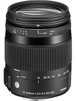 Sigma 18-200 mm F3.5-6.3 DC Macro OS HSM Contemporary 62 mm Objectif (adapté à Sony Minolta A-type) noir