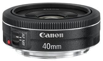 Canon EF 40 mm F2.8 STM 52 mm Objectif (adapté à Canon EF) noir