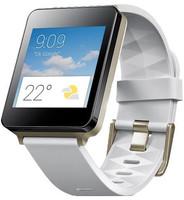 LG G Watch 42mm nero con cinturino in gomma bianca