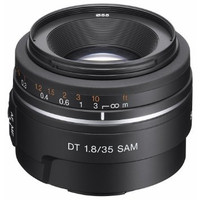 Sony 35 mm F1.8 DT SAM 55 mm Objetivo (Montura Sony A-mount) negro