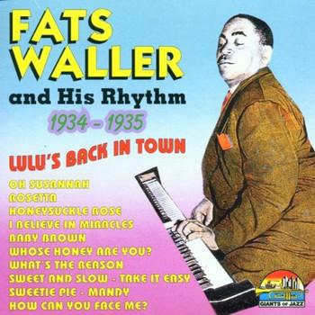 Fats Waller - Lulu'S Back in Town 1934-1935