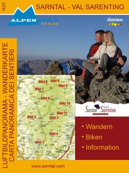 Sarntal Luftbildpanorama & Wanderkarte: Val Sarentino - Alpenwelt Verlag