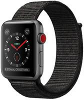 Apple Watch Series 3 38 mm aluminium spacegrijs met Sport Loop zwart [wifi + cellular]