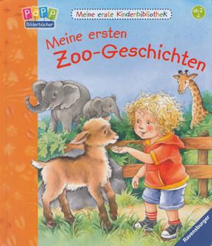 Meine erste Kinderbibliothek: Meine ersten Zoo-Geschichten - Hannelore Dierks [Pappbilderbuch]