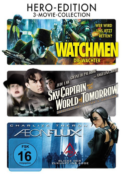 Hero-Edition: Watchmen - Die Wächter / Sky Captain And The World Of Tomorrow / Aeon Flux [3 DVDs, 3-Movie-Collection]