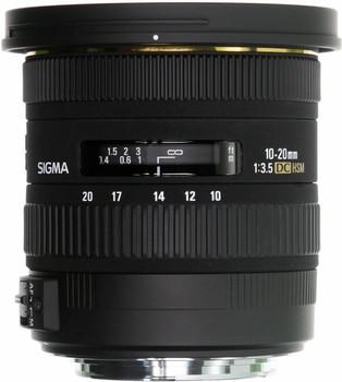 Sigma 10-20 mm F3.5 DC EX HSM 82 mm Objectif (adapté à Nikon F) noir